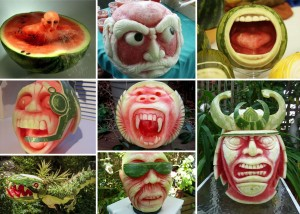 Bizarre Watermelon Carving Art