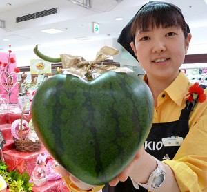 heart shaped watermelons