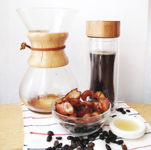 Maple bacon smoked coffee