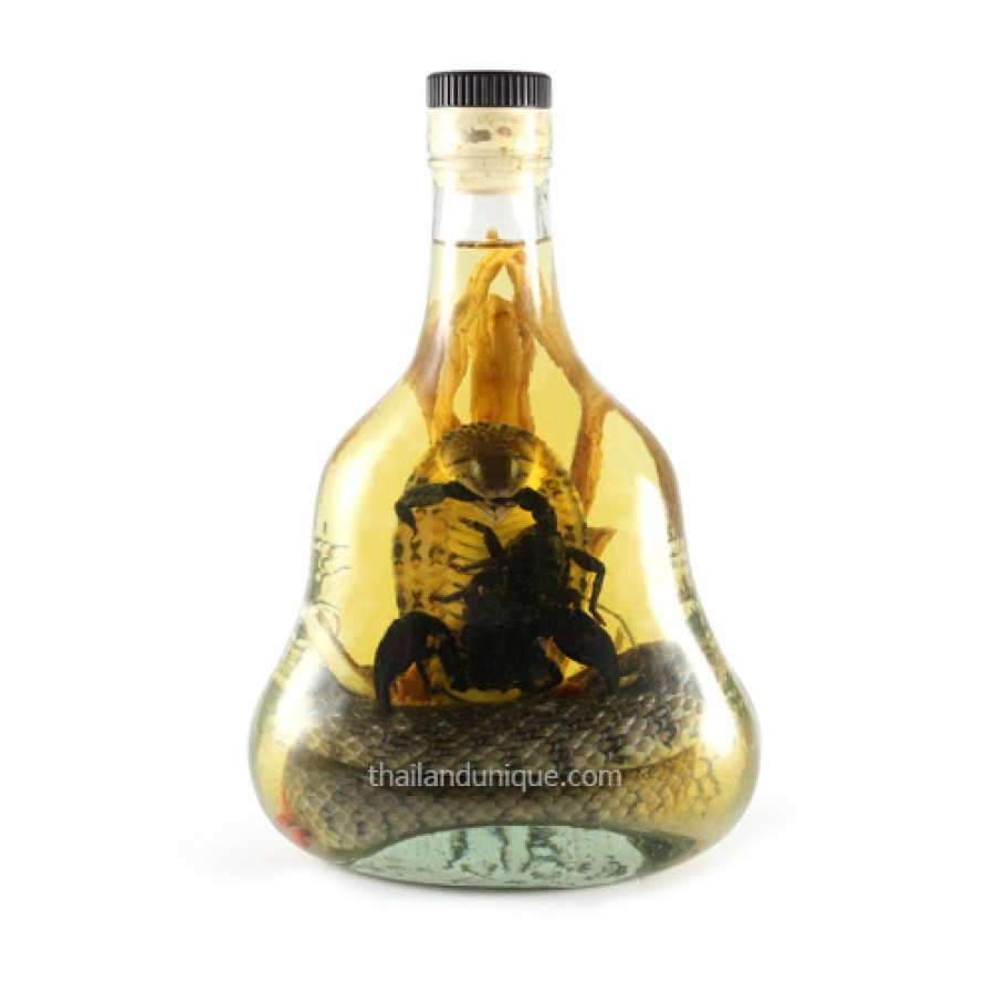 Real Cobra Snake & Scorpion Whiskey